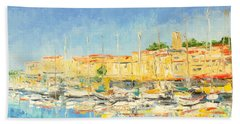 Cannes Harbour Hand Towel