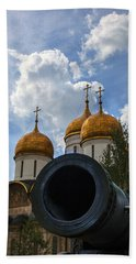 Cannon And Cathedral  - Russia Hand Towel by Madeline Ellis
