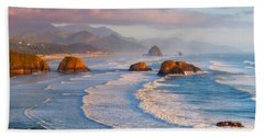 Cannon Beach Sunset Hand Towel
