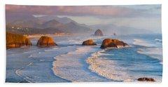 Cannon Beach Sunset Bath Towel