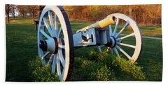 Cannon In The Grass Hand Towel by Michael Porchik