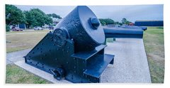 cannons of Fort Moultrie on Sullivan's Island in South Carolina  Hand Towel