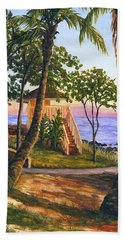 Hand Towel featuring the painting Canoe Beach by Darice Machel McGuire