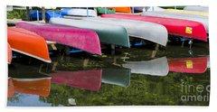 canoes - Lake Wingra - Madison  Bath Towel