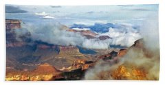 Bath Towel featuring the photograph Canyon Clouds by Alan Socolik