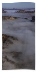 Canyon Rims Float In Fog Hand Towel