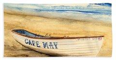 Cape May Lifeguard Boat - 2 Hand Towel
