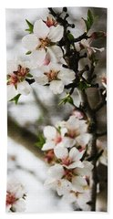 Capay Valley Almond Blossom Bath Towel by Jennifer Muller
