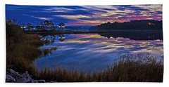 Cape Charles Sunrise Hand Towel by Suzanne Stout