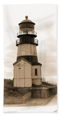 Cape Disappointment Lighthouse Bath Towel by Cathy Anderson