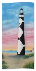 Bath Towel featuring the painting Cape Lookout Sunset by Fran Brooks
