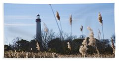 Bath Towel featuring the photograph Cape May Light by Jennifer Ancker