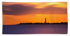Cape May Lighthouse Long Exposure Hand Towel