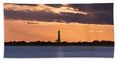 Cape May Lighthouse Sunset Panorama Hand Towel