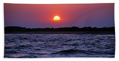 Cape May Sunset Bath Towel by Richard Bryce and Family