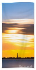 Cape May Lighthouse Vertical Long Exposure Hand Towel