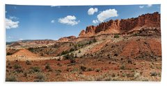 Bath Towel featuring the photograph Capitol Reef Panorama No. 1 by Tammy Wetzel