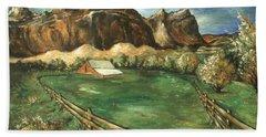 Capitol Reef Utah - Landscape Art Painting Hand Towel