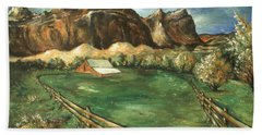 Capitol Reef Utah - Landscape Art Painting Bath Towel