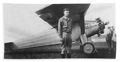 Captain Charles Lindbergh Bath Towel