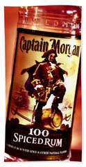 Captain Morgan Red Toned Hand Towel
