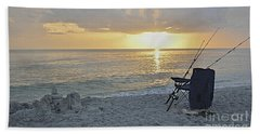 Hand Towel featuring the photograph Captiva Sunset by Carol  Bradley