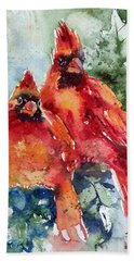 Cardinal Birds Bath Towel