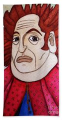Hand Towel featuring the painting Serious Cardinal by Don Pedro De Gracia