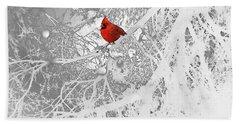 Cardinal In Winter Hand Towel