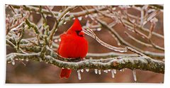 Cardinal Bath Towel by Mary Carol Story