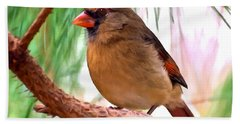 Cardinal Hand Towel by Bob and Nadine Johnston