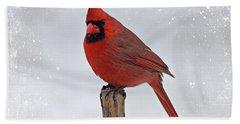 Cardinal Perching Hand Towel