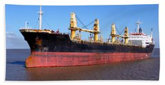 Cargo Ship Bath Towel