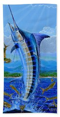 Caribbean Blue Off0041 Hand Towel by Carey Chen