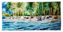 Caribbean Harbor Bath Towel