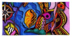 Caribbean Hand Towel by Leon Zernitsky