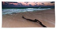 Caribbean Sunset Hand Towel by Mihai Andritoiu