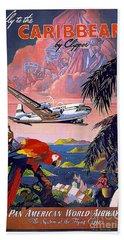 Caribbean Vintage Travel Poster Hand Towel