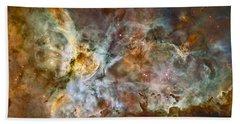 Carina Nebula Hand Towel by Adam Romanowicz
