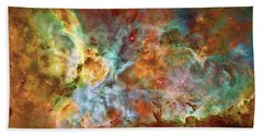 Carina Nebula - Interpretation 1 Bath Towel