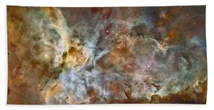 Carinae Nebula Bath Towel by Sebastian Musial