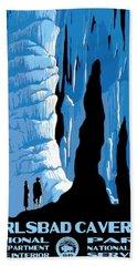 Carlsbad Caverns National Park Vintage Poster Hand Towel