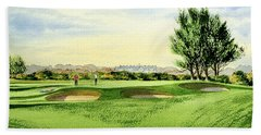 Carnoustie Golf Course 13th Green Bath Towel by Bill Holkham