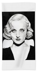 Carole Lombard Hand Towel by Fred Larucci