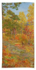 Carolina Autumn Gold Hand Towel by Gail Kent