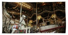 Hand Towel featuring the photograph Carousel by Barbara Orenya
