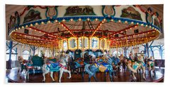 Hand Towel featuring the photograph Carousel Ride by Jerry Cowart