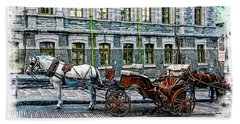 Carriage Rides Series 06 Hand Towel