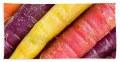 Carrot Rainbow Hand Towel by Heidi Smith