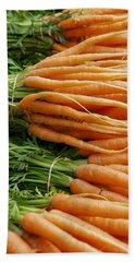 Bath Towel featuring the digital art Carrots by Ron Harpham